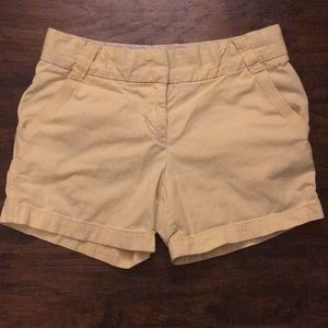 ☀️JCrew Pale Yellow Chino Shorts